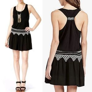 Lucky Brand Racerback Embroidered Dress